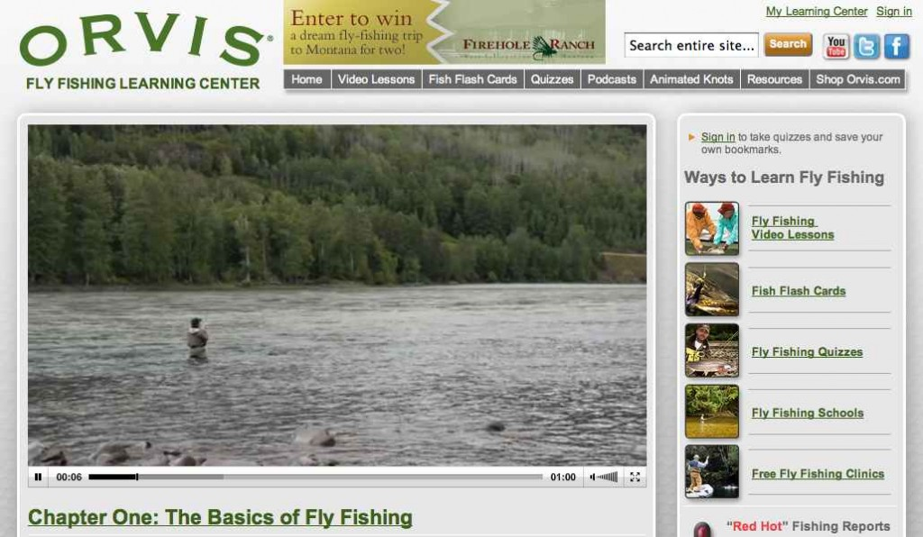 Orvis fly fishing learning center little river chapter for Orvis fly fishing podcast